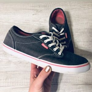 Vans | Women's Atwood Gray & Pink Canvas Sneakers